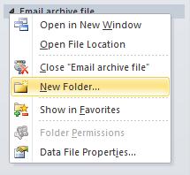 imap arhivare outlook